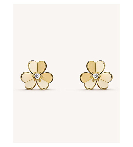 VAN CLEEF & ARPELS Frivole gold and diamond small earrings (Yellow+gold