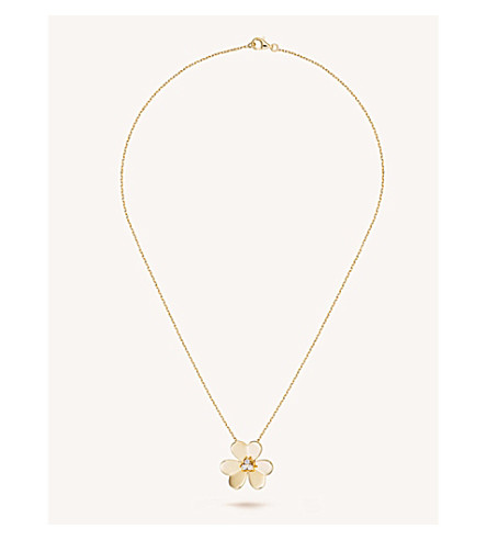 VAN CLEEF & ARPELS Frivole gold and diamond large pendant (Yellow+gold