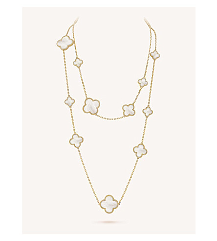 VAN CLEEF & ARPELS Magic Alhambra gold and mother-of-pearl necklace (Yellow+gold