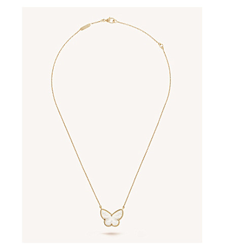 VAN CLEEF & ARPELS Lucky Alhambra gold and mother-of-pearl pendant (Yellow+gold