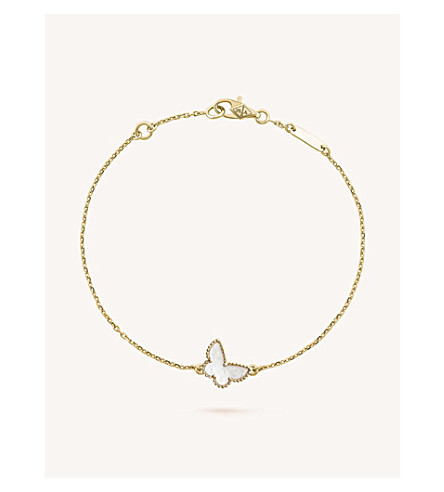 VAN CLEEF & ARPELS Sweet Alhambra gold and mother-of-pearl bracelet (Yellow+gold