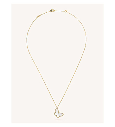 VAN CLEEF & ARPELS Sweet Alhambra yellow-gold and mother-of-pearl pendant (Yellow+gold