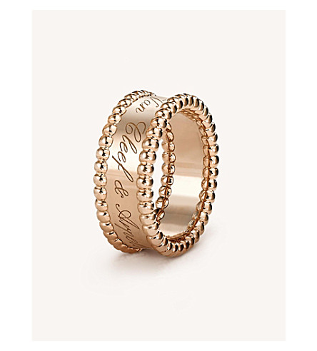 VAN CLEEF & ARPELS Perlée Signature rose-gold ring (Pink+gold