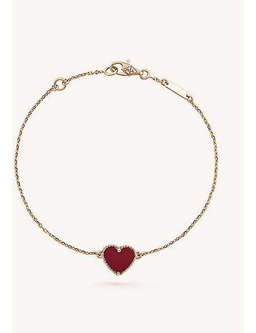 Van cleef arpels selfridges shop online van cleef arpels sweet alhambra gold and carnelian heart bracelet aloadofball Image collections