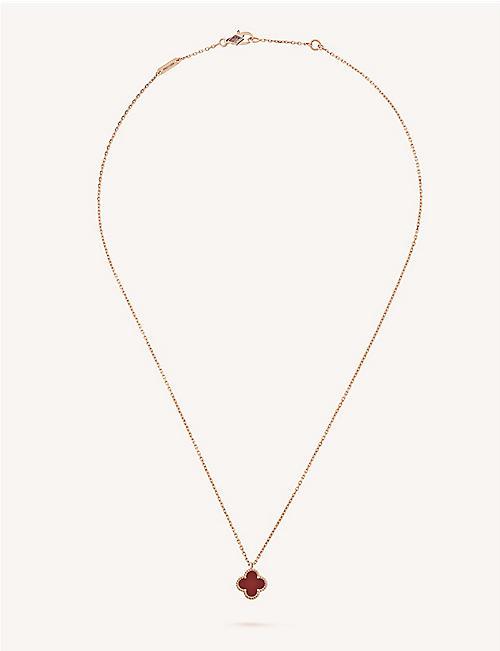 Van cleef arpels selfridges shop online van cleef arpels sweet alhambra gold and carnelian necklace aloadofball Image collections