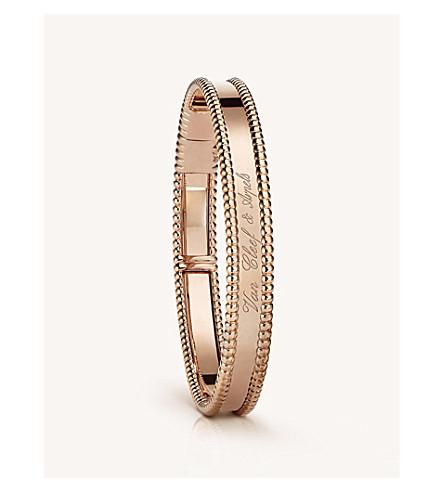 VAN CLEEF & ARPELS Perlée signature gold medium bracelet (Pink+gold
