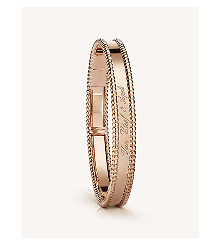 VAN CLEEF & ARPELS Perlée signature gold small bracelet (Pink+gold