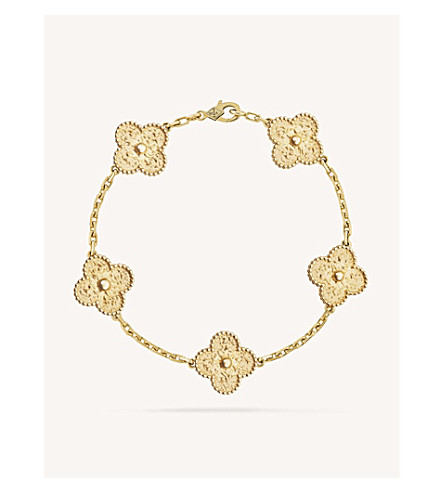 VAN CLEEF & ARPELS Vintage Alhambra yellow-gold bracelet (Yellow+gold