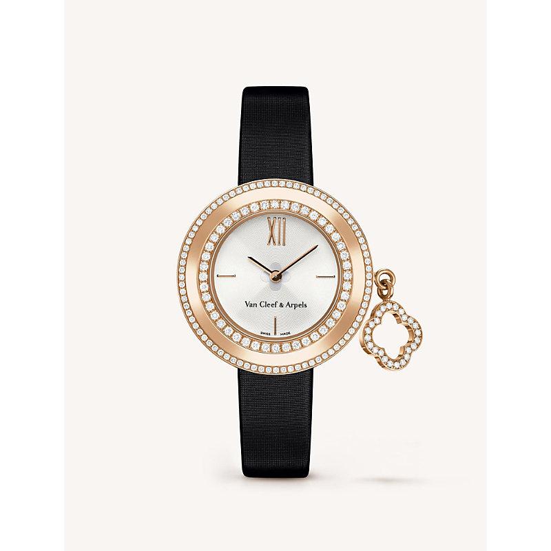 VAN CLEEF & ARPELS | VAN CLEEF & ARPELS Charms Mini Gold And Diamond Watch, Women'S, Pink Gold | Goxip