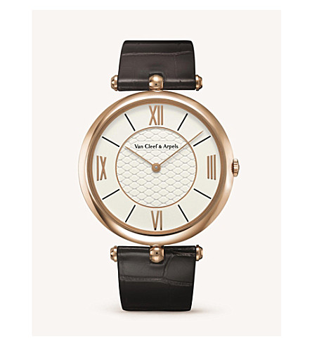 VAN CLEEF & ARPELS Pierre Arpels gold and diamond watch (Pink+gold