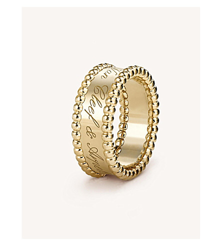 VAN CLEEF & ARPELS Perlée Signature yellow-gold ring (Yellow+gold