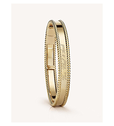 VAN CLEEF & ARPELS Perlée signature gold medium bracelet (Yellow+gold