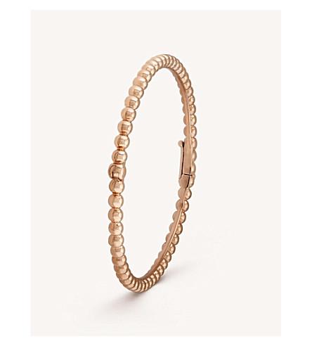 VAN CLEEF & ARPELS Perlée Perles d'Or gold medium bracelet (Pink+gold