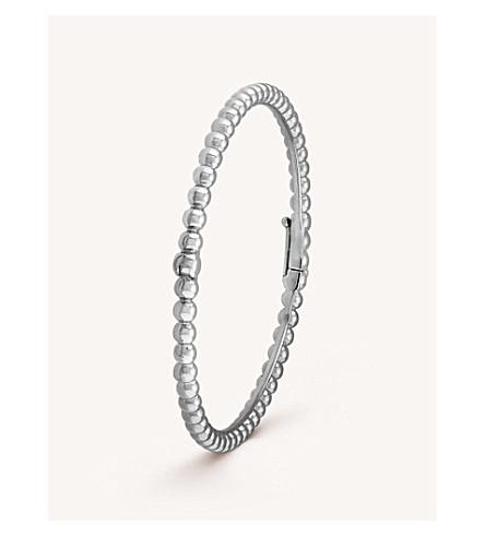 VAN CLEEF & ARPELS Perlée Perles d'Or gold medium bracelet (White+gold