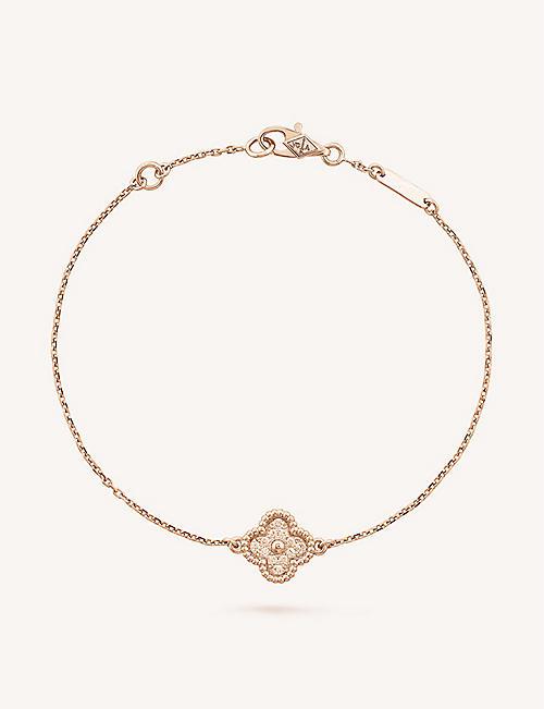 Van cleef arpels selfridges shop online van cleef arpels sweet alhambra gold bracelet aloadofball Images
