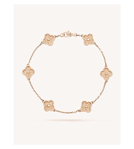 VAN CLEEF & ARPELS Sweet Alhambra gold bracelet (Pink+gold