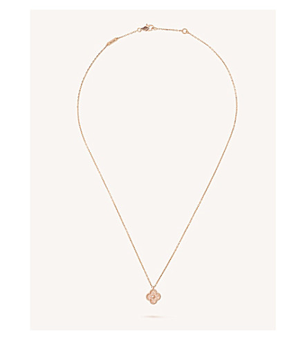 VAN CLEEF & ARPELS Sweet Alhambra gold necklace (Pink+gold
