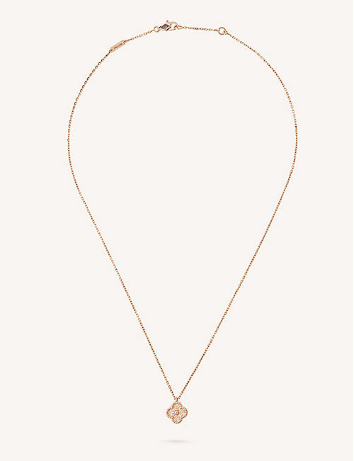 Van cleef arpels selfridges shop online van cleef arpels sweet alhambra gold necklace aloadofball Images