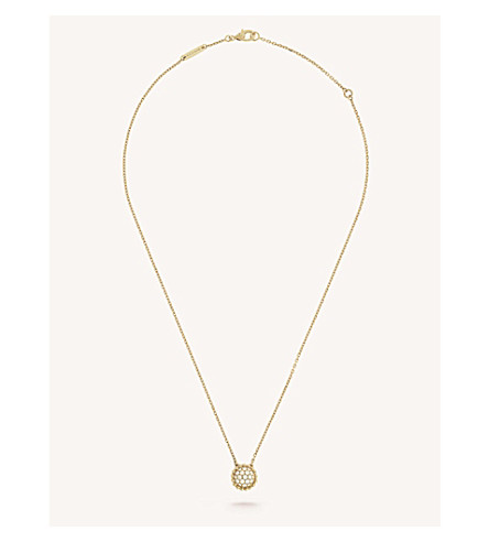 VAN CLEEF & ARPELS Perlée Diamants gold and diamond pendant (Yellow+gold
