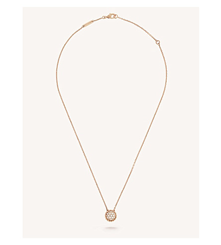 VAN CLEEF & ARPELS Perlée Diamants gold and diamond pendant (Pink+gold