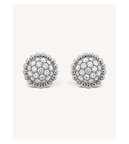 VAN CLEEF & ARPELS Perlée Diamants gold and diamond earrings (White+gold