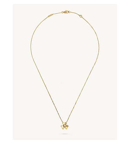 VAN CLEEF & ARPELS Frivole yellow-gold and diamond pendant (Yellow+gold