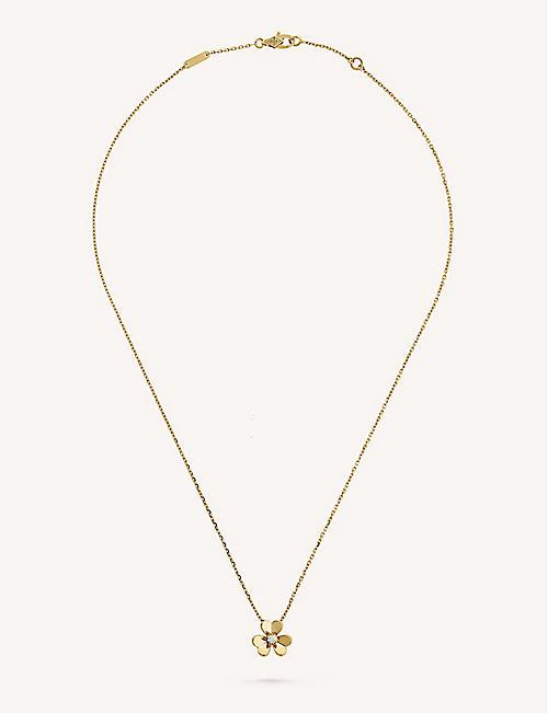 Van cleef arpels selfridges shop online van cleef arpels frivole yellow gold and diamond pendant aloadofball Image collections