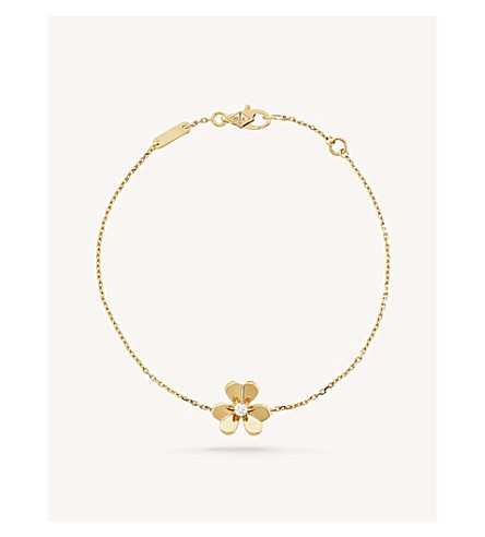 VAN CLEEF & ARPELS Frivole yellow-gold and diamond bracelet (Yellow+gold