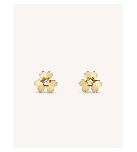 VAN CLEEF & ARPELS Frivole yellow-gold and diamond earrings (Yellow+gold