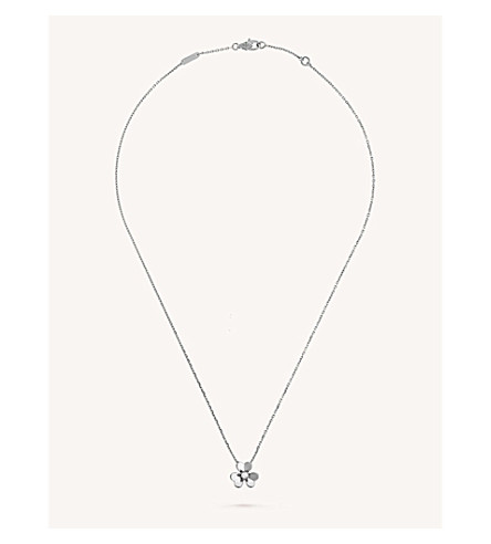 VAN CLEEF & ARPELS Frivole white-gold and diamond pendant (White+gold