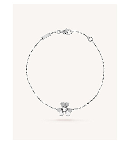 VAN CLEEF & ARPELS Frivole white-gold and diamond bracelet (White+gold