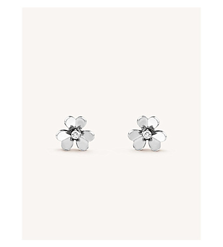 VAN CLEEF & ARPELS Frivole white-gold and diamond earrings (White+gold