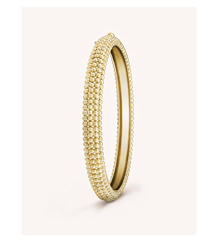 VAN CLEEF & ARPELS Perlee pink gold bracelet medium (Yellow+gold