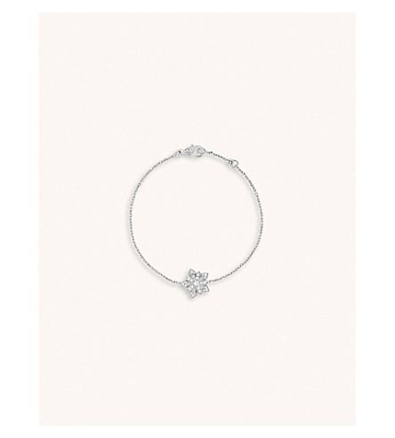 VAN CLEEF & ARPELS Lotus Openwork white-gold and diamond bracelet