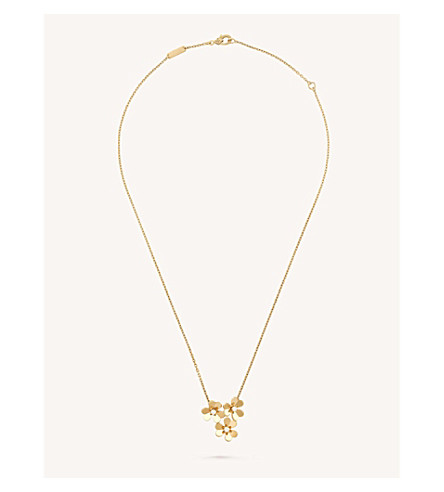 VAN CLEEF & ARPELS Frivole pendant yellow-gold and diamond necklace