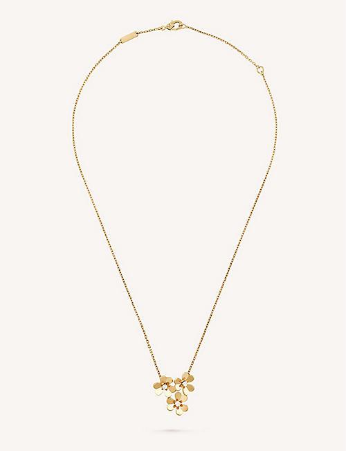 Van cleef arpels selfridges shop online van cleef arpels frivole pendant yellow gold and diamond necklace aloadofball Image collections