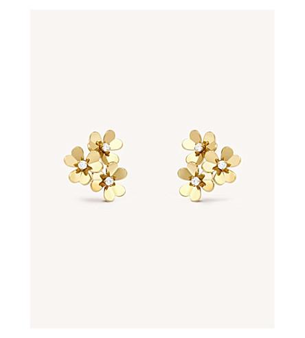 VAN CLEEF & ARPELS Frivole yellow-gold and diamond earrings