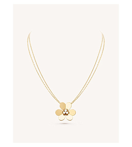 VAN CLEEF & ARPELS Frivole pendant very large yellow-gold and diamond necklace