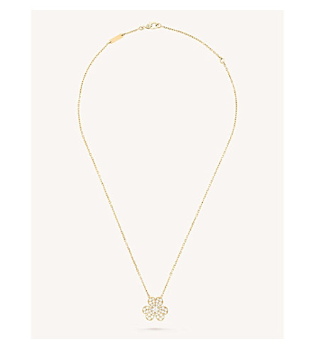 VAN CLEEF & ARPELS Frivole pendant small yellow-gold and diamond necklace