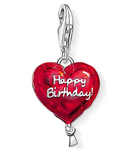THOMAS SABO 魅力俱乐部银和搪瓷快乐的生日魅力