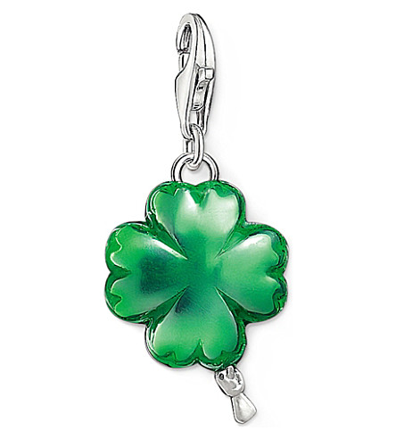 THOMAS SABO Charm club silver and enamel cloverleaf balloon charm