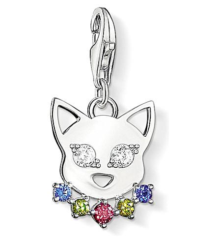 THOMAS SABO Charm Club silver and zirconia cat charm