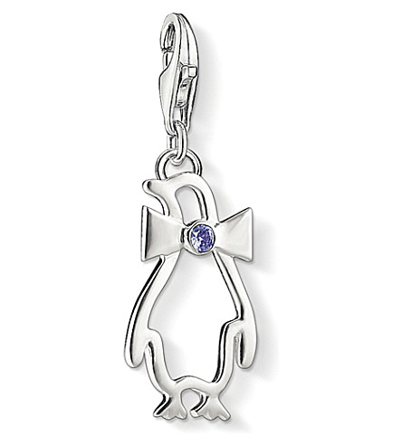 THOMAS SABO Charm Club silver jewelled penguin charm