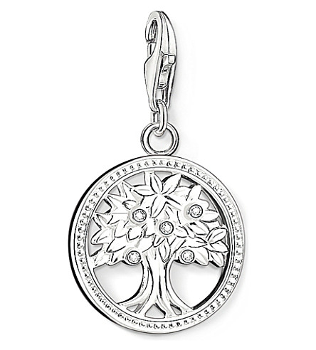THOMAS SABO Charm club silver and zirconia tree of life charm pendant