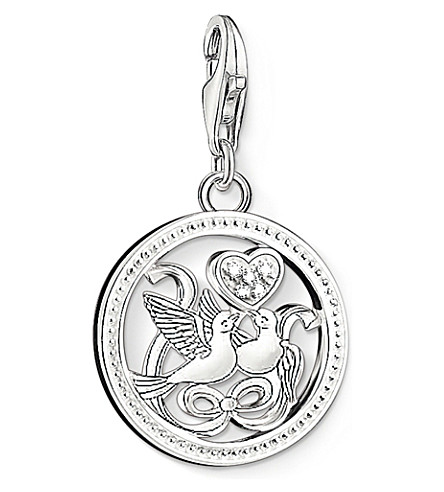 THOMAS SABO Charm club silver and zirconia birds charm pendant