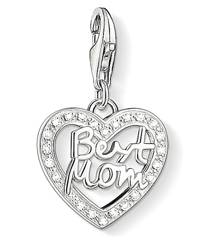 THOMAS SABO Charm club silver and zirconia best mom charm pendant
