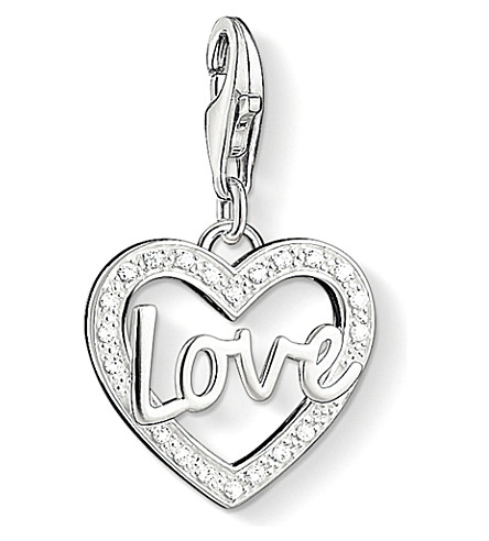 THOMAS SABO Charm club silver and zirconia love charm pendant