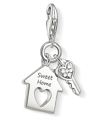 THOMAS SABO Charm club silver and zirconia sweet home charm