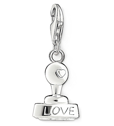 THOMAS SABO Charm club silver and zirconia love stamp pendant