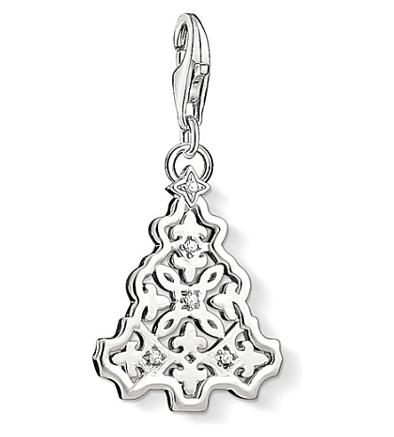 THOMAS SABO Charm club silver and zirconia christmas tree charm